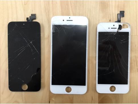 修理全体の9割がガラス画面割れ。画面修理は最短15分でお渡し可能です!