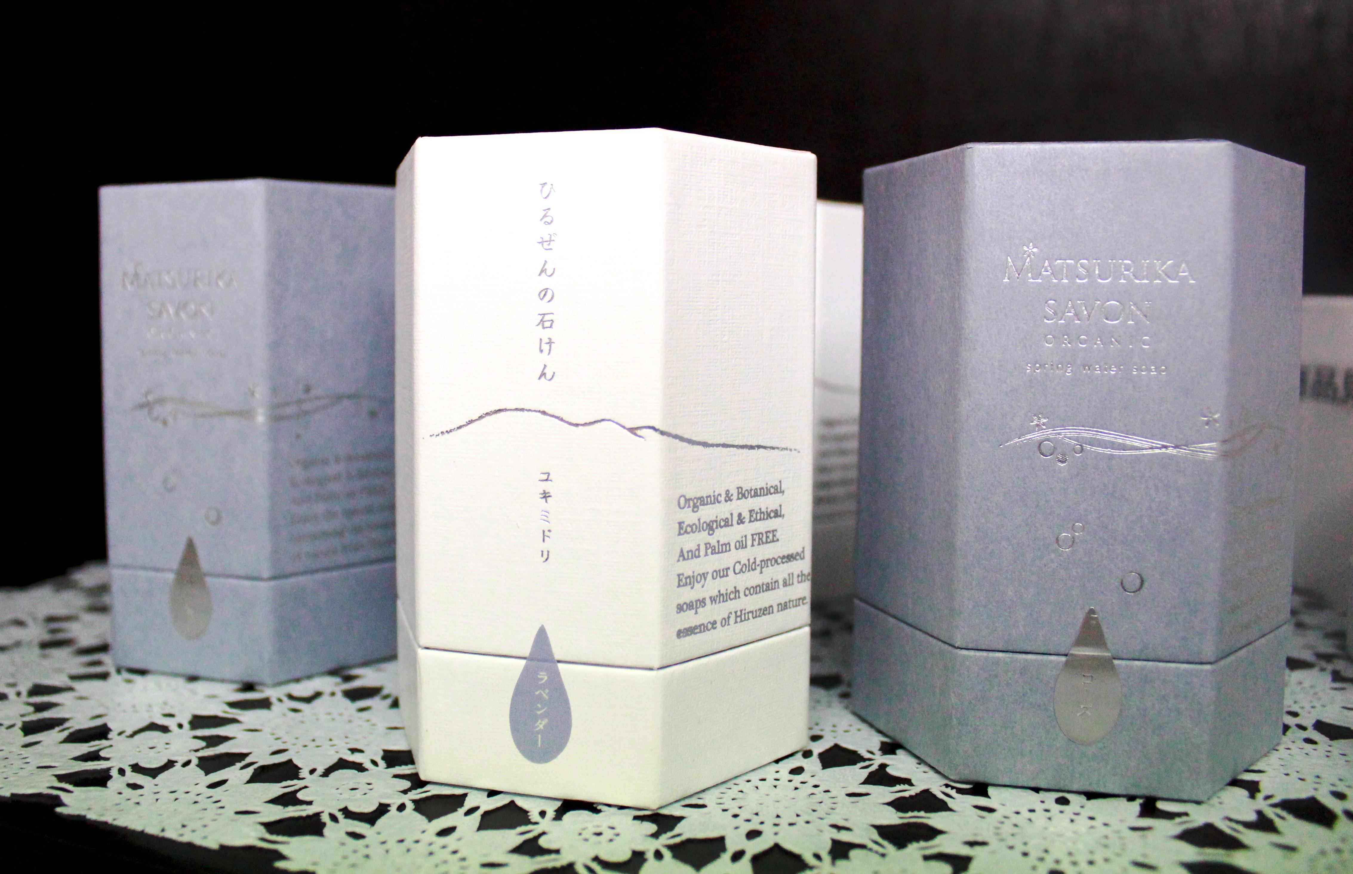 オーガニック石けん「MATSURIKA SAVON」宝石箱をイメージした外箱のパッケージは、プレゼントにも最適♪