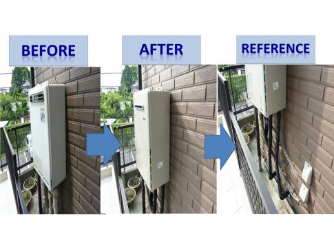 【施工事例】Y様邸:壁掛け給湯器 交換