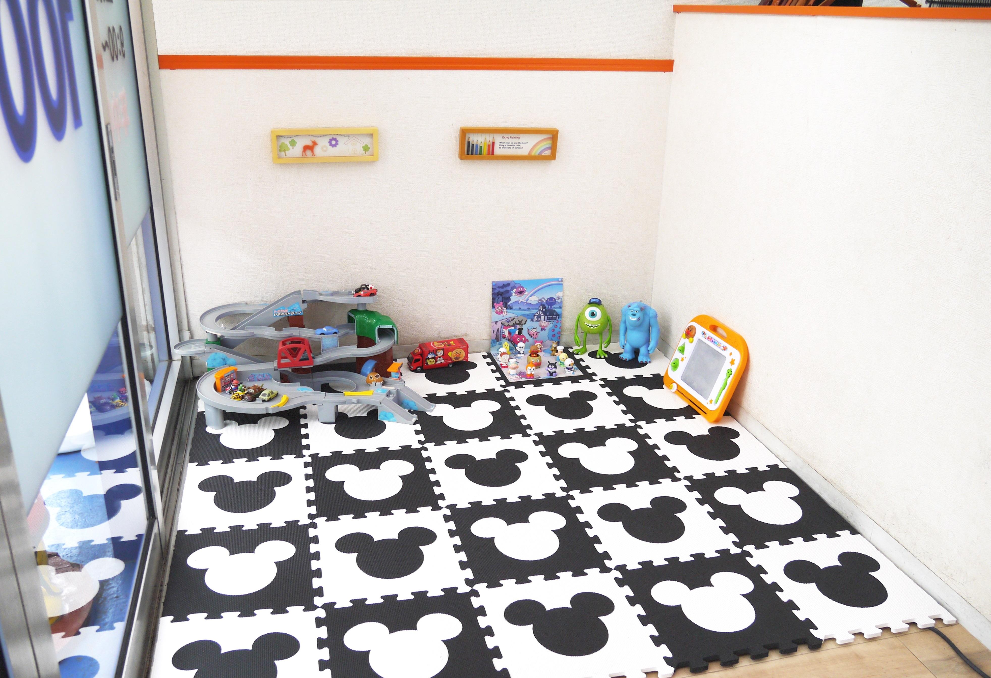 主婦に嬉しい!綺麗なキッズスペースはおもちゃがイッパイ!