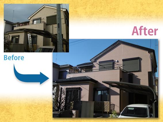 【施工事例】外壁塗装・屋根重ね葺き T様邸