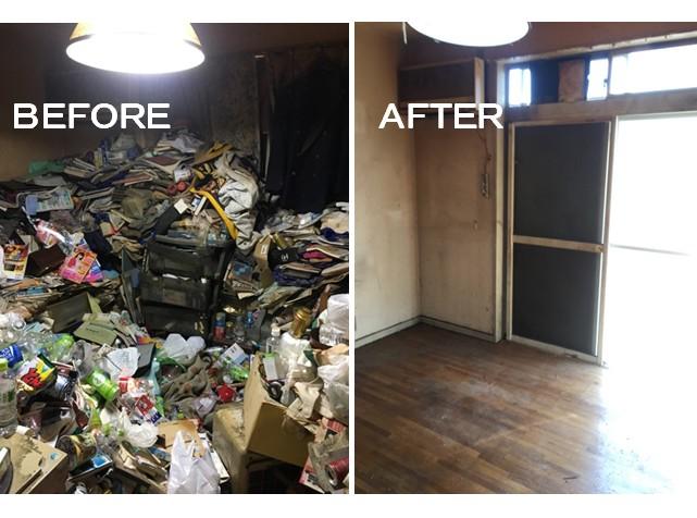 【ゴミ屋敷清掃】リビング