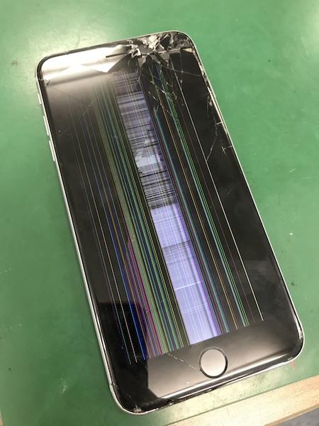 iPhone6SPlus液晶交換16,800円で30分程度で修理完了となりました!