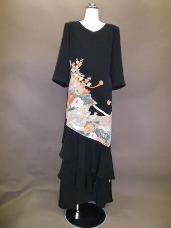 【着物リメイク】留袖→ドレス・二段フレヤースカート(38,000円~・税別)