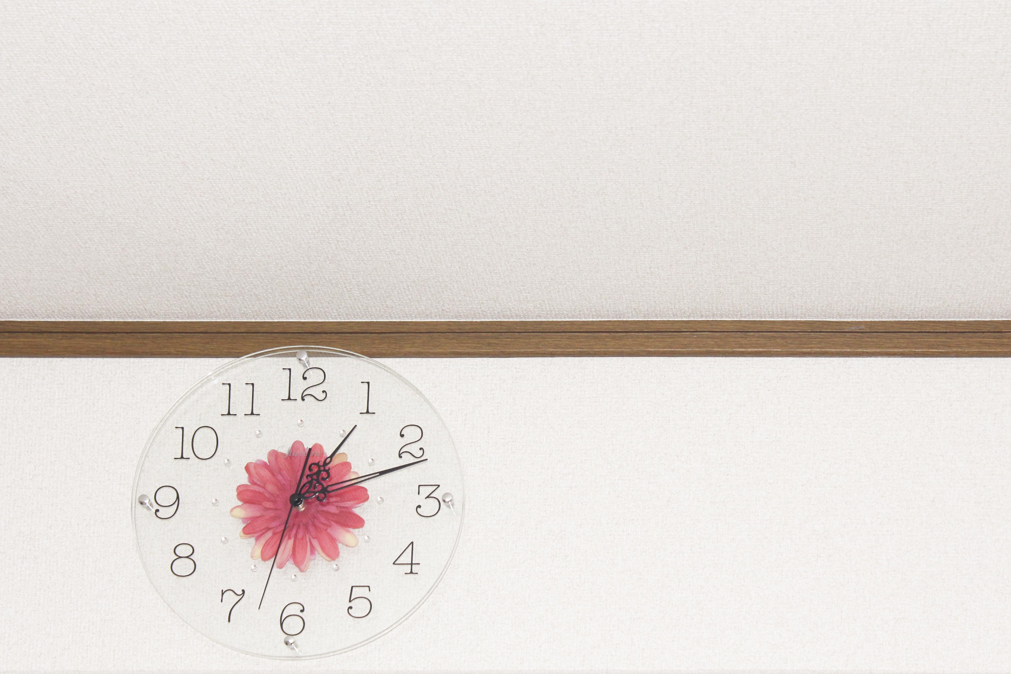 壁掛け時計もかわいい❤