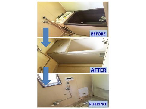 【施工事例】M様邸:屋外壁掛け給湯器へ変更