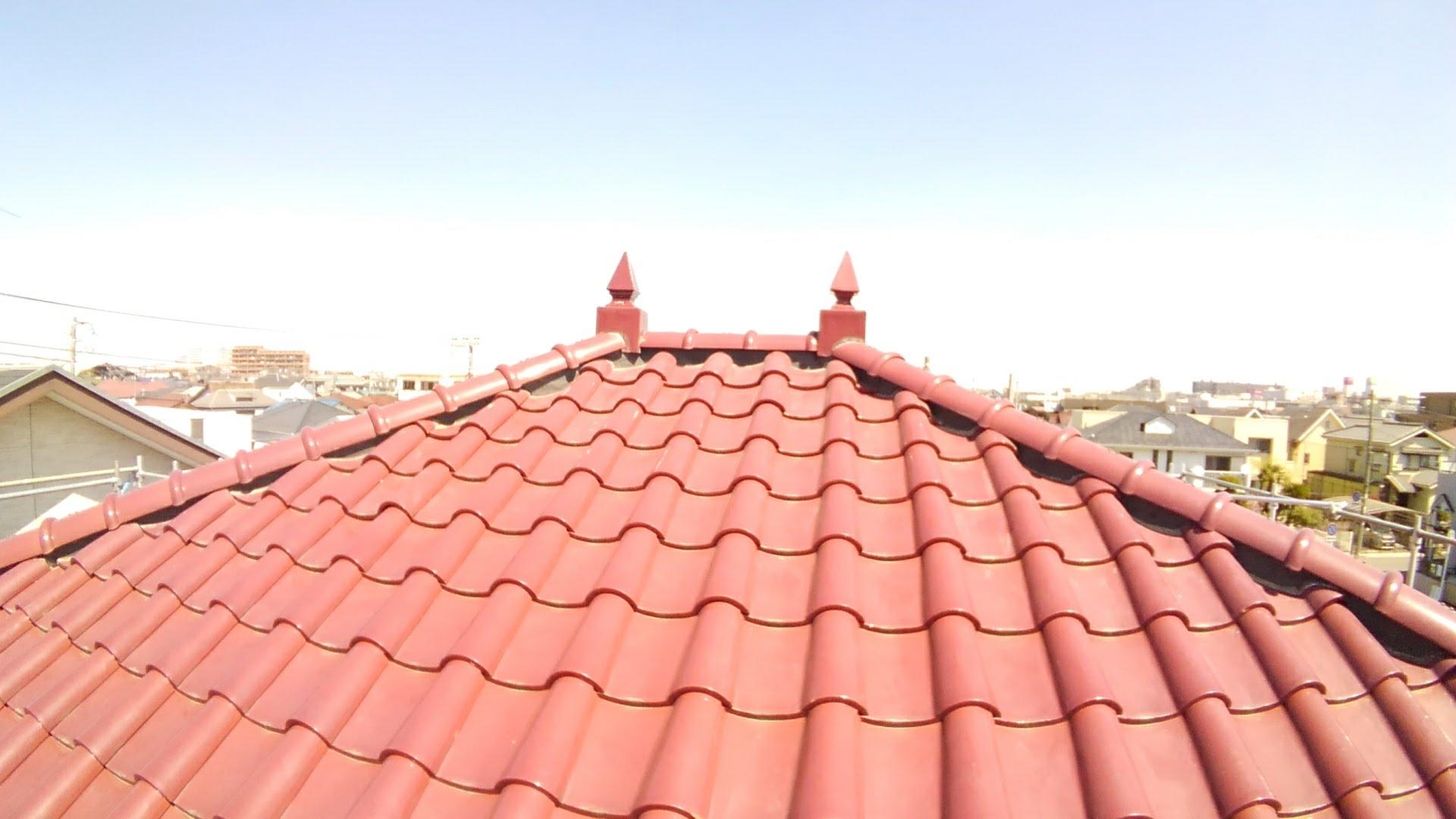 瓦屋根の漆喰工事