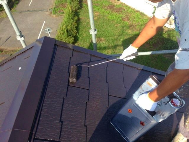 ④屋根上塗り2回目