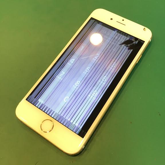 【iPhone7:液晶修理】津田沼から、落として割れてしまったiPhone7の液晶修理の依頼です。約40分で修理完了です!