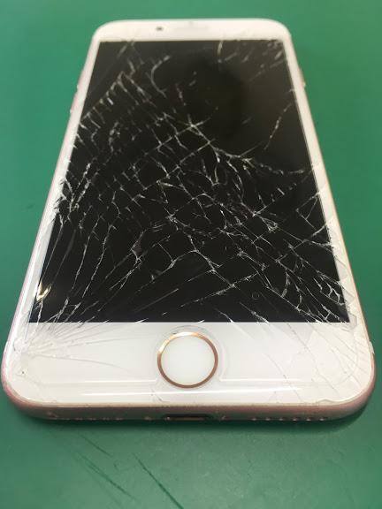 【iPhone7:画面割れ】北習志野からiPhone7の画面割れ修理の依頼です。タッチが効かなくても約40分でデータはそのままに修理出来ました!
