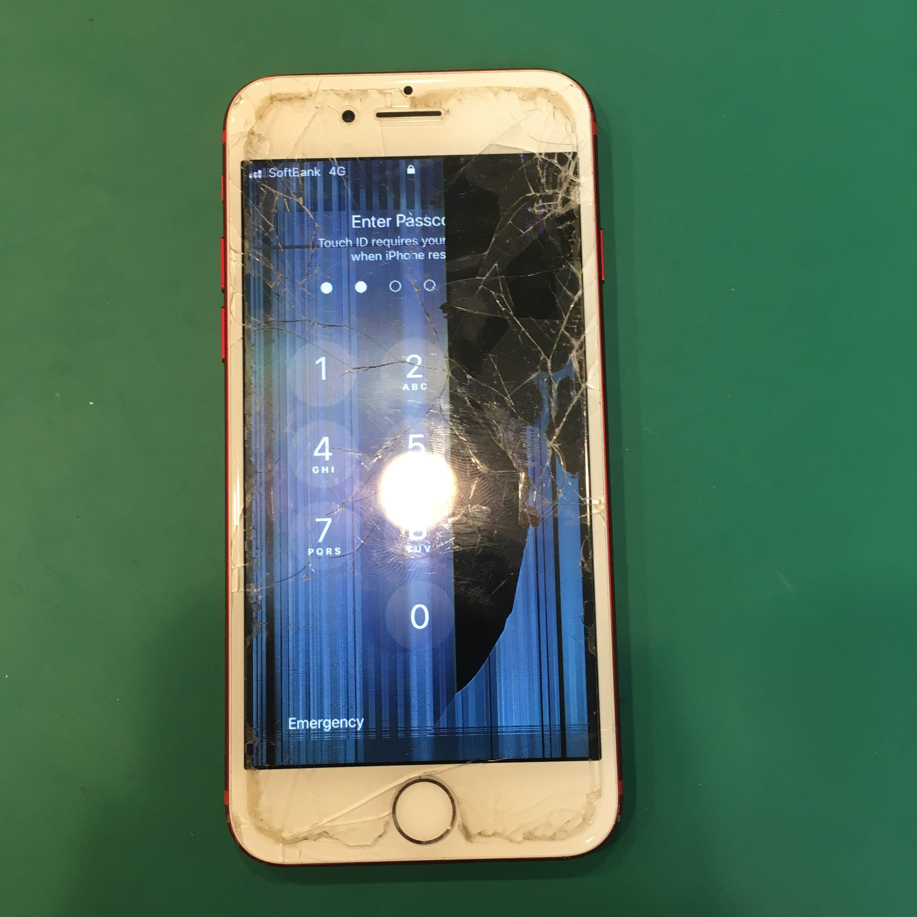 北習志野からiPhone7の液晶修理依頼です。ダメもとで相談に来たとのことでしたが、約40分で何ら問題なく直って安心したと喜んでいただけました。