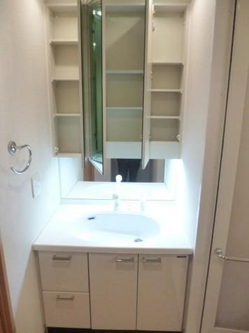 ・三面鏡独立洗面台・