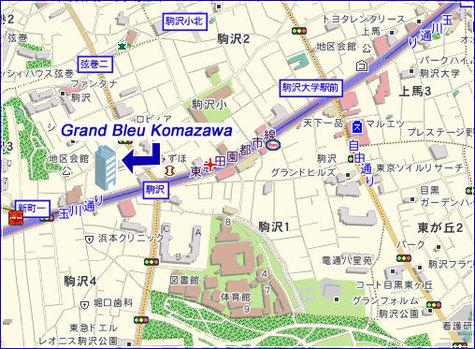 Grand Bleu Komazawa   グランブルー駒沢 建物画像3