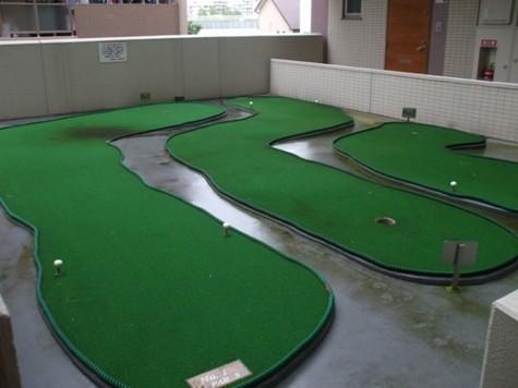 入居者用パターゴルフ練習場
