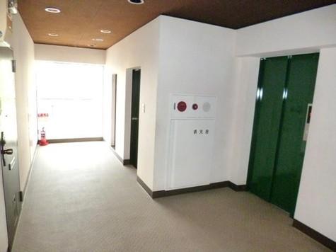 共用廊下にも全面窓があり広々…