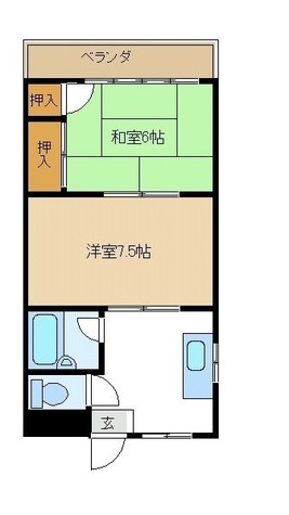 Fマンション / 203 部屋画像1