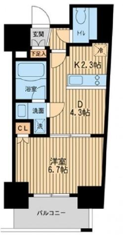 レジディア川崎 / 707 部屋画像1