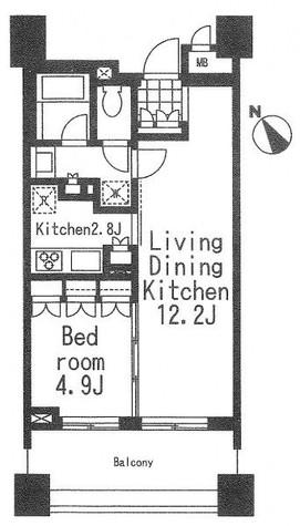 アパートメンツ三田 / 8階 部屋画像1