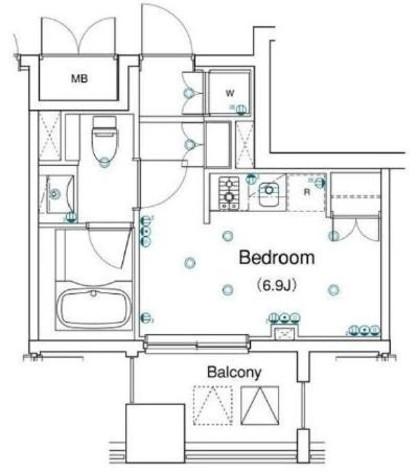 アパートメンツ銀座東 / 2階 部屋画像1