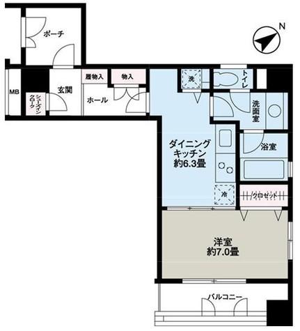 神保町 3分マンション / 3階 部屋画像1