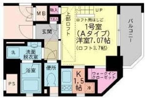 ムーンシャイニー弐番館 / 7階 部屋画像1