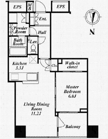 コートレジデントタワー / 6階 部屋画像1
