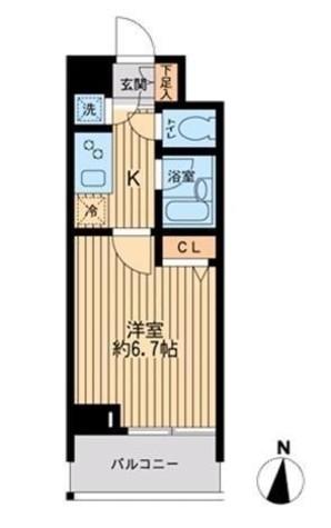 HF早稲田レジデンス / 509 部屋画像1
