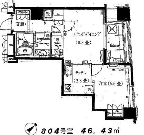 サンウッド品川天王洲タワー / 1604 部屋画像1