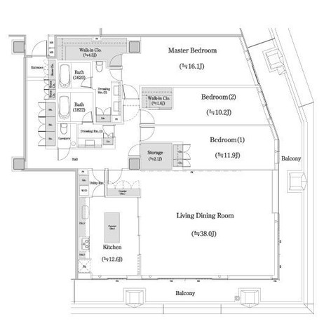 麹町 1分マンション / 10階 部屋画像1