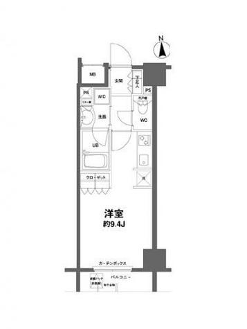 コンフォリア新宿御苑Ⅱ / 7階 部屋画像1
