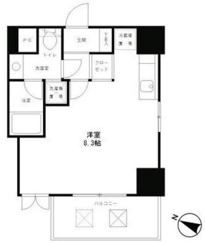 レジディア恵比寿 / 8階 部屋画像1
