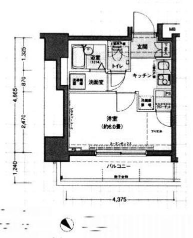ドルチェ日本橋浜町弐番館 / 203 部屋画像1