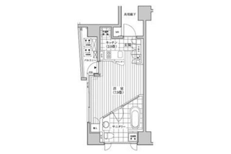 カスタリア銀座(旧イプセギンザ) / 8階 部屋画像1