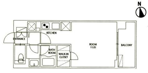 レジディア大井町Ⅱ(旧パシフィックレジデンス大井町Ⅰ) / 2階 部屋画像1