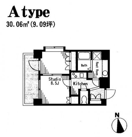 コートラクリア京橋 / 8階 部屋画像1
