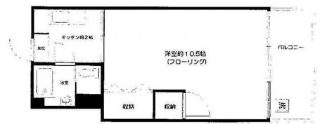 コーポ恵比寿 / 402 部屋画像1
