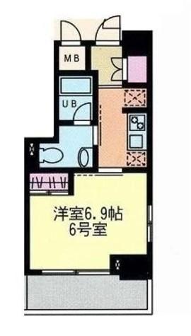 門前仲町レジデンス弐番館 / 6階 部屋画像1