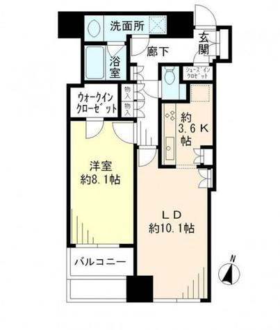 大崎ウエストシティタワーズ / 6階 部屋画像1