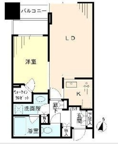 大崎ウエストシティタワーズ / 5階 部屋画像1