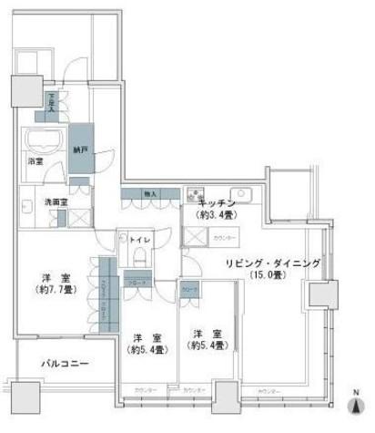 パークタワー横浜ステーションプレミア / 3008 部屋画像1