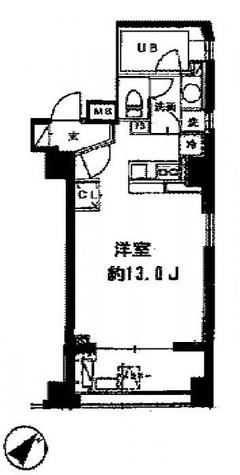 セントラルクリブ六本木Ⅰ / 904 部屋画像1