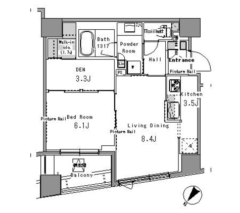 パークアクシス日本橋浜町 / 7階 部屋画像1