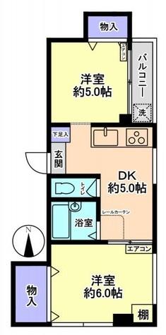 福原ビル / 203 部屋画像1
