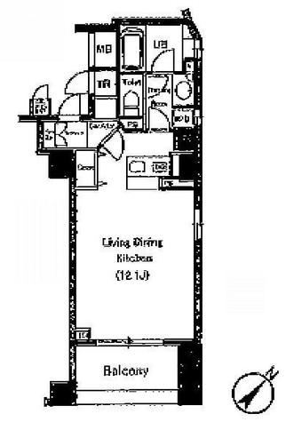 セントラルクリブ六本木Ⅱ / 404 部屋画像1