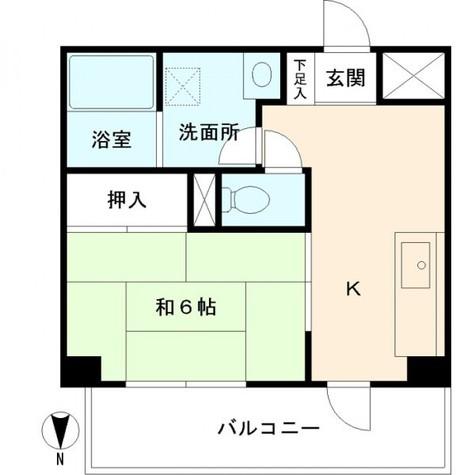 ハイム三ツ沢 / 3階 部屋画像1