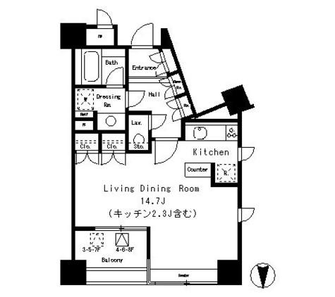 パークアクシス麻布仙台坂 / 703 部屋画像1