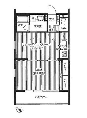 シェールグラン上池台 / 1階 部屋画像1