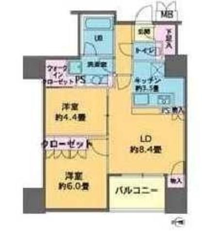 カスタリアタワー品川シーサイド / 8階 部屋画像1