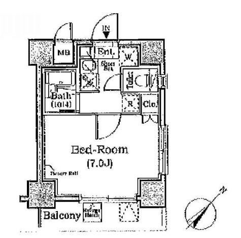 レジディア月島Ⅲ / 2階 部屋画像1