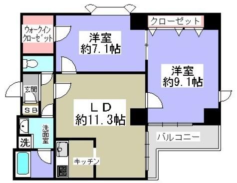 グリーンコート / 5階 部屋画像1